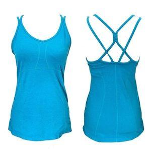 Athleta Empowerment Aqua Strappy Back Tank Top 🌿